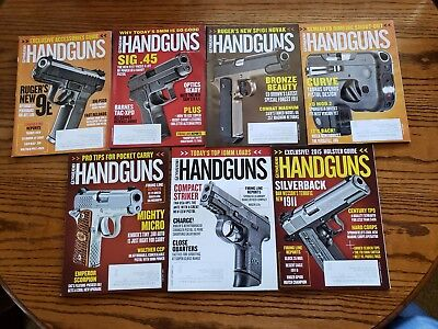 Lot of Guns & Ammo Handguns magazines from 2014 2015 (Glock, S&W, Springfield), used for sale  Shipping to Canada