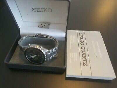 Mens Rare Seiko Flightmaster Quartz Sports 150 Chronograph Watch 7T34-6A00