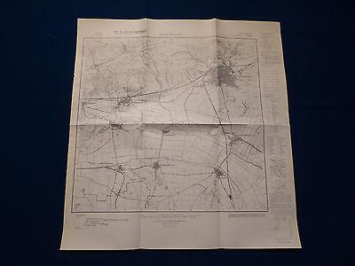Landkarte Meßtischblatt 4533 Sangerhausen, Oberröblingen, Wallhausen, um 1945