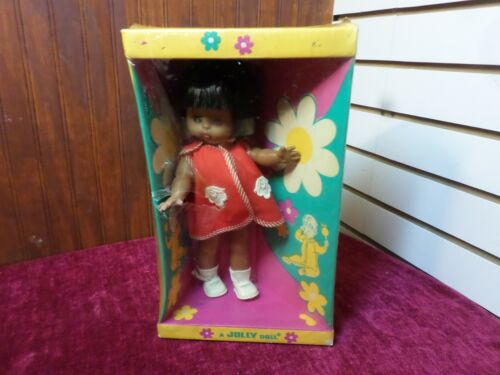 Rare Vtg 60s A JOLLY DOLL Native American Baby Doll IN BOX