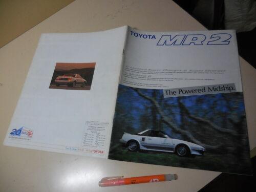 TOYOTA MR2 Japanese Brochure 1988/09 AW11 4A-GZE 4A-GELU 3A-LU TRD AW10 AUTO