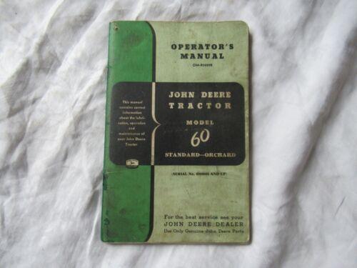 John Deere model 60 tractor operator