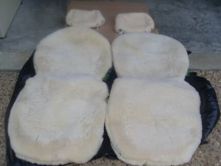 Lambs Wool Seat Covers for Toyota Landcruiser GXL 80's Series