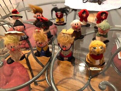 Vintage 1970s Kellogg Cereal Mail Order Wooden Character Figures Lot
