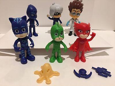 PJ Masks action Figures Catboy Owlette Gekko 9PCS Romeo Ninja Luna girl 6 pcs