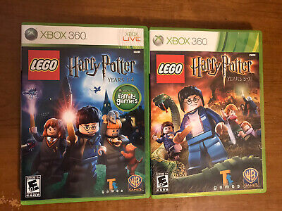XBox 360 Game Lot, Lego Harry Potter 1-4 and 5-7, CIB Complete