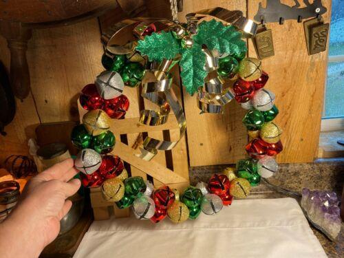 Large Metal Christmas Jingle Bell Wreath