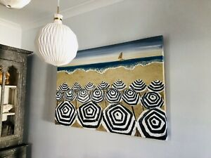 Hand Painted Large Beach Scape Painting