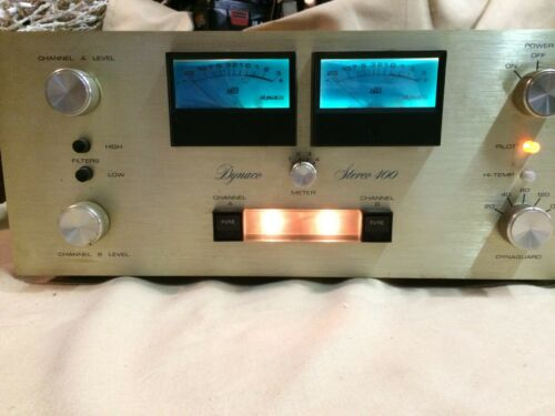 Dynaco Stereo 400 Power Amplifier with Meters - Working!