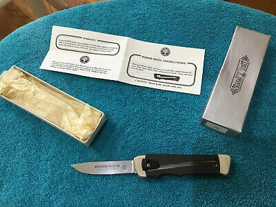 VINTAGE BOKER TREE BRAND BK700 BOKER-MATIC KNIFE Germany box pamphlet Soligen