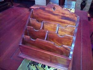 Vintage Jarrah Letter/Papers Rack for Home/Office [+$22 To Post] Victoria Park Victoria Park Area Preview