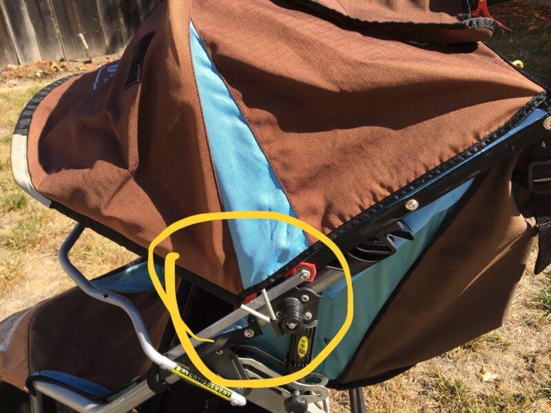 Bob Stroller Revolution Canopy Hood  Hinge & 2 Screws - 2010 & Older Models
