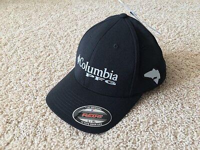 NEW Columbia PFG Pique Fishing Flexfit Hat Cap size L/XL Black - Fish Hat