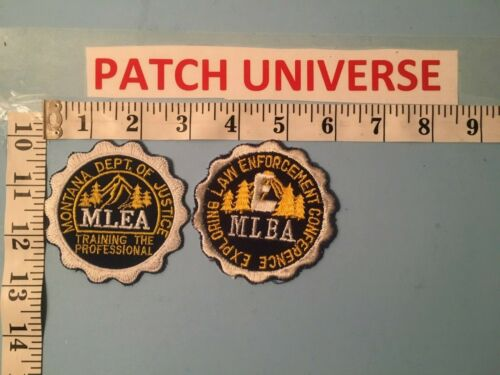 LOT OF 2 DIFFERENT MONTANA DEPT OF JUSTICE  SHOULDER PATCHES    L092