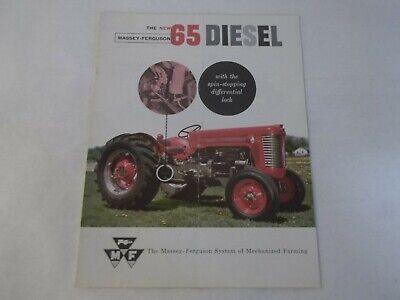 Massey Ferguson 65 Diesel Tractor Brochure