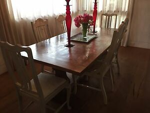 Set of 7 shabby chic dining chairs Lane Cove Lane Cove Area Preview