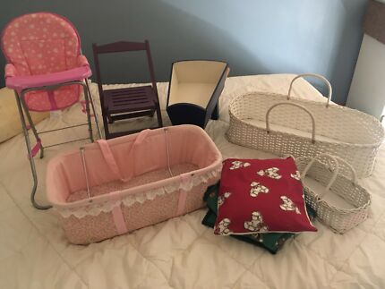 Bundle of furniture and accessories for large baby doll