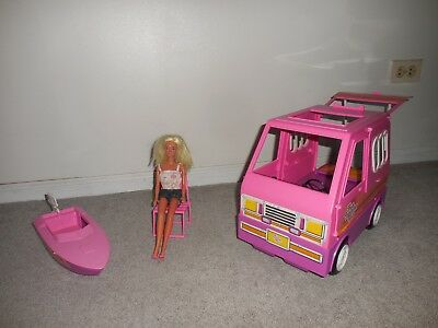Used, Vintage BARBIE PINK COUNTRY CAMPER & BOAT for sale  Warrenville