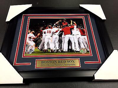 2013 BOSTON RED SOX WORLD SERIES CHAMPIONS DAVID ORTIZ 8X10 FRAMED PHOTO