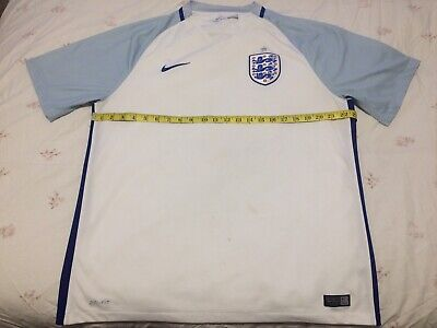 England 2016-17 XL 46 Inch Chest Nike Home Football Shirt Jersey