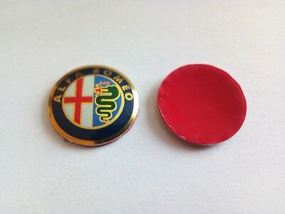 t10, 15mm ALFA ROMEO Car Logo Key Fob Emblem Badge Sticker