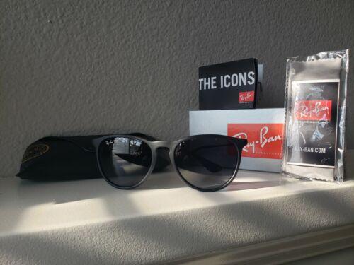 Ray-Ban Erika Classic Polarized Matte Black Sunglasses 54mm RB4171
