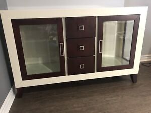 Mid century modern credenza, sideboard, cabinet, console server