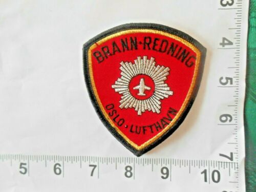 Brann-Redning embroidered patch OSLO  FIREFIGHTING RESCUE  free shipping