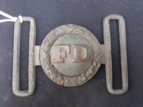 Civil War 2 Piece Fire Department Brass Buckle REPRODUCTION
