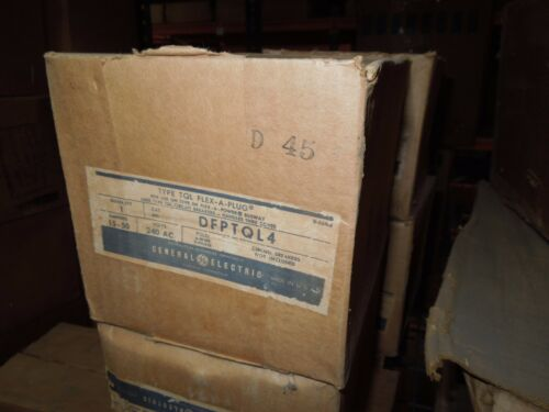 Ge Dfptql4 15-50a 3ph 4w 240v Circuit Breaker Busplug Enclosure Only Surplus