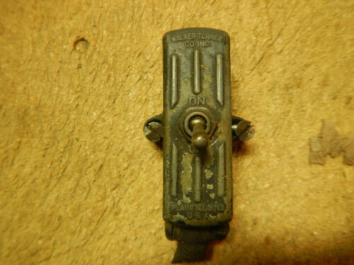 VINTAGE WALKER TURNER CAST SWITCH BOX WITH SWITCH