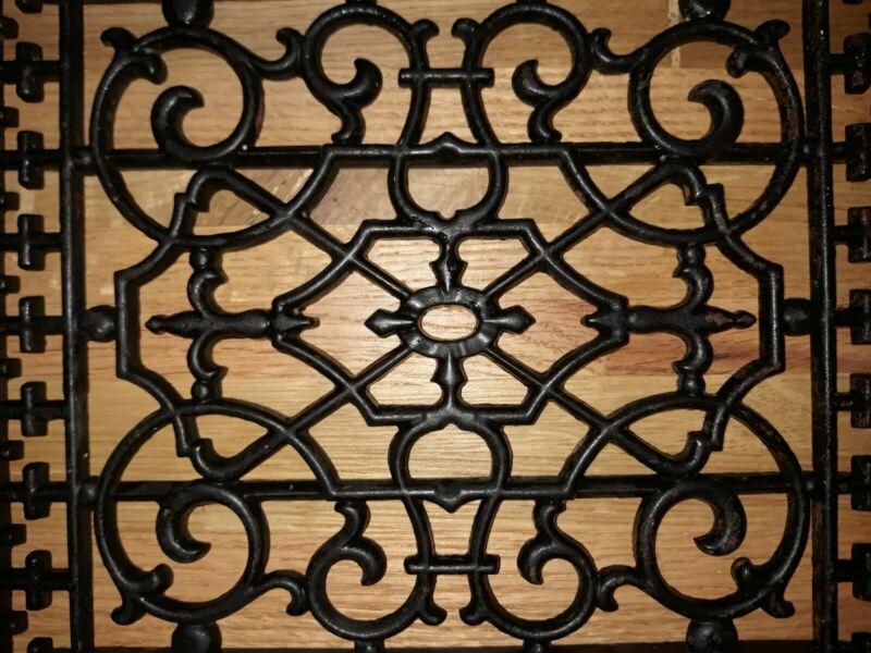 Antique Vintage Ornate Cast Iron Heat Vent Grate Return Register Air Floor Wall