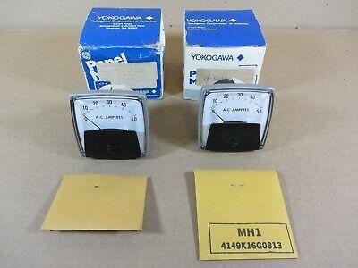 Yokogawa 0-50 Ac Amps 2-12 Analog Panel Meter 0-5 Amp Input 250-240-lsnt