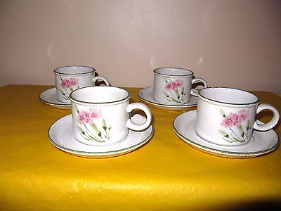 "4 MIDWINTER INVITATION TEA/COFFEE CUPS&SAUCERS,CUP dia 3.5"",tall 2.5"", in VGC"
