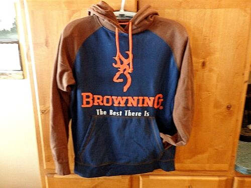 Browning Logo Hoodie Sweatshirt The Best There Is Front Pocket Size L