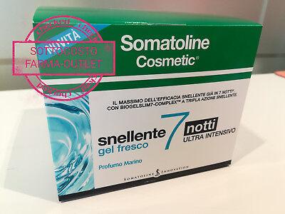 SOMATOLINE COSMETIC SNELLENTE 7 NOTTI GEL FRESCO NOVITA' 2018 PROMO SOTTOCOSTO