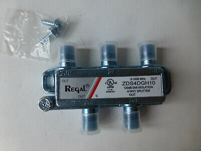 regal 4 way splitter tv antena cable splitter coaxial zds4dgh10 for sale  Shipping to India