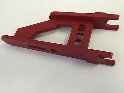Knife Making Small Wheel Holder For 2x72 Knife Making Belt Grinder Red