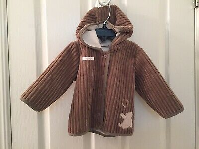 Disney Baby Winnie the Pooh Brown Hooded Jacket Coat Baby Boy Size 9-12 Months