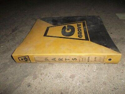 Grove Rt630 Rough Terrain Crane Factory Parts Catalog Manual