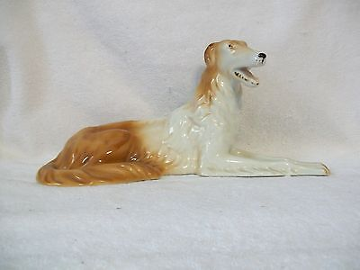 Large Vintage Royal Dux Borzoi Russian Wolfhound Dog Figurine