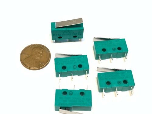 5 Pieces Green T120 kw4-3z-3 N/C N/O Micro Limit Switch Lever 3d printer A16