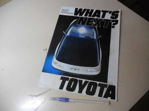 TOYOTA Japanese Literature 1983 The 25th Tokyo Motor Show