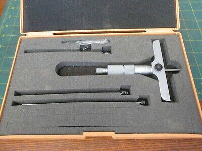 Machinist Tools Depth Micrometer 129-127 .001 0-4