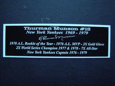 Thurman Munson Autograph Nameplate New York Yankees Autograph Jersey Ball Photo