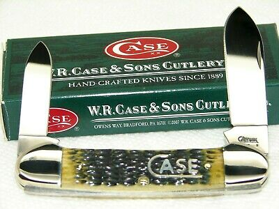 "CASE XX USA,2008, 62131 CANOE KNIFE,""CASE XX"" INLAY & DARK ANTIQUE BONE, MINT"