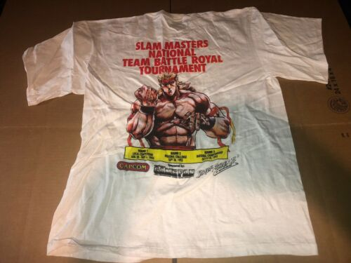 Vintage Slam Masters Tournament Capcom 1993 T-SHIRT Size Large