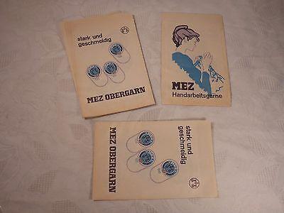 10 x alte Papiertüte Tüte mit Werbung Garn MEZ Obergarn Nähen Handarbeit (4)