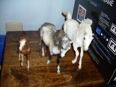 Breyer Horse Lot of 3 white -- gray/white -- small brown