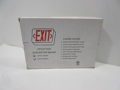 - *NEW* EXIT LED EXIT SIGN AC/DC BATTERY BACKUP (TR) *60 DAY WARRANTY*